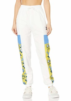 PUMA Women's Trend All Over Print Woven Pants White L