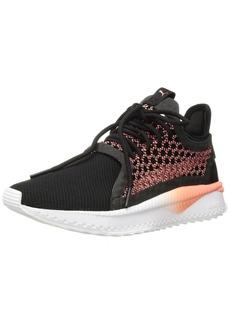 PUMA Women's Tsugi Netfit WN's Sneaker Black-Shell Pink White  M US