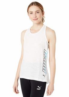 PUMA Women's Twist IT Logo Tank TOP White M