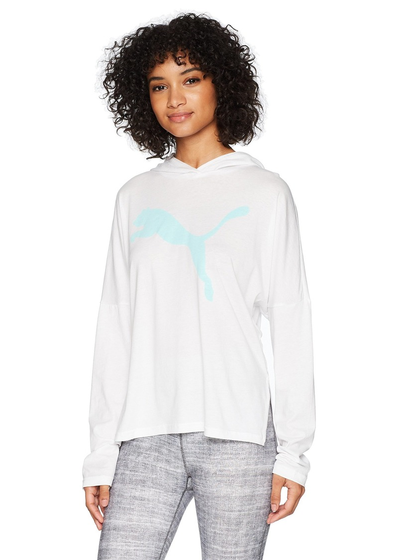 PUMA Women's Urban Sports Light Cover up top White/Island Paradise S