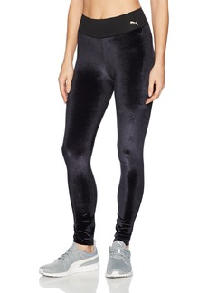 PUMA Women's Velvet Leggings Black/Rose Gold Cat S
