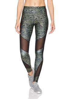 PUMA Women's Velvet Print Leggings Black L