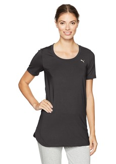 PUMA Women's Velvet Rope Layering Tunic Top Black XS