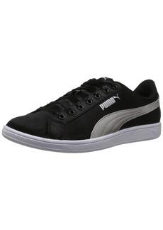 PUMA Women's Vikky En Pointe Sneaker Black Silver