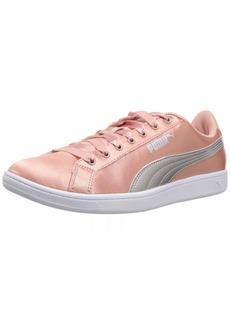 PUMA Women's Vikky En Pointe Sneaker Peach Beige Silver  M US