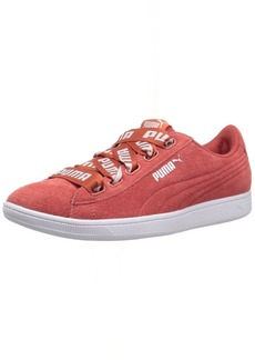 PUMA Women's Vikky Ribbon Bold Sneaker Spiced Coral