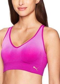 PUMA Women's Women's Seamless Ombre Star Bra Bra  Extra Large