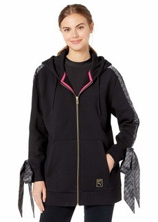 PUMA Women's X Barbie Full Zip Hoodie Black S