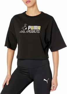 PUMA womens Puma X Peanuts Tee T Shirt   US