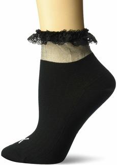 Puma Women's x SG Ruffle Short Crew Socks (1 Pair) black