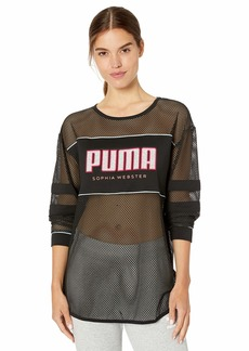PUMA Women's x Sophia Long Sleeve T-Shirt Black S