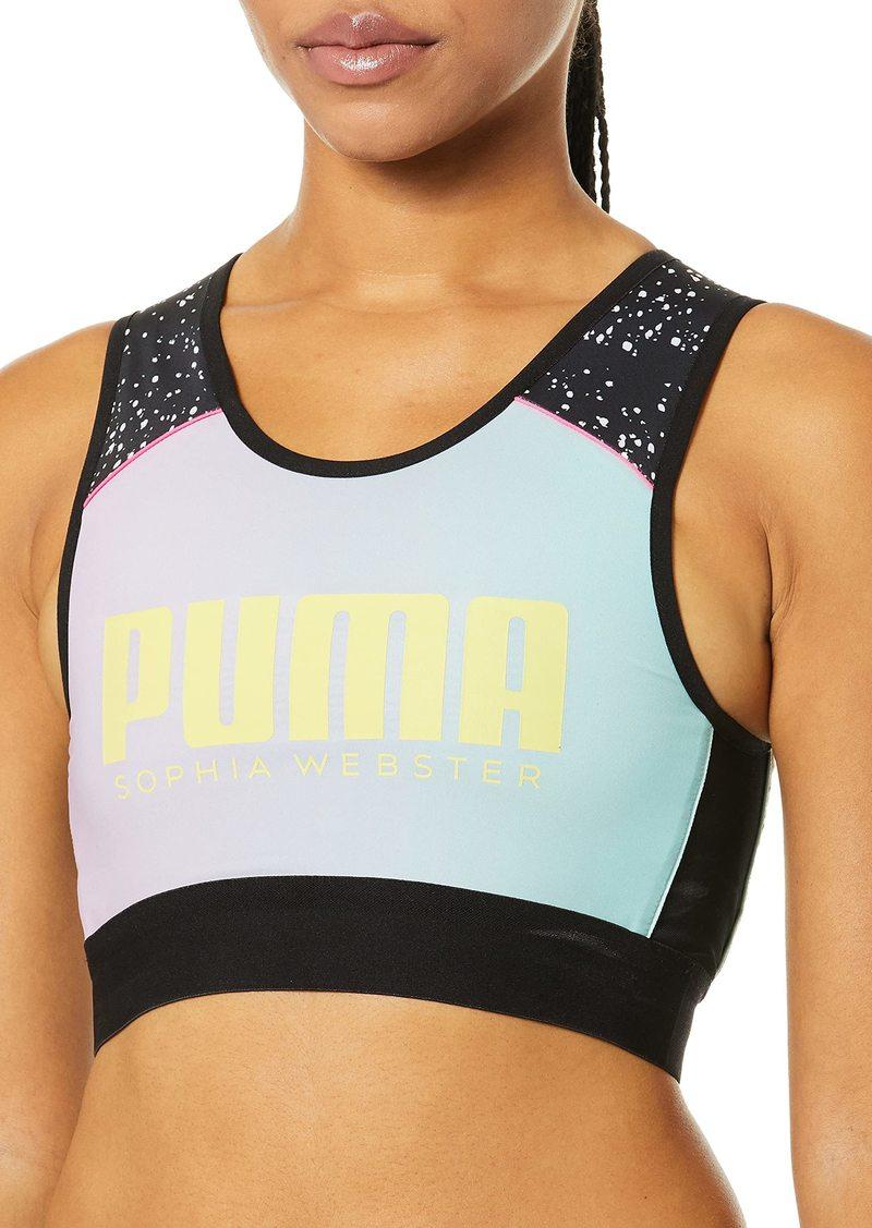 PUMA Women's x Sophia Reversible Crop Top White/AOP