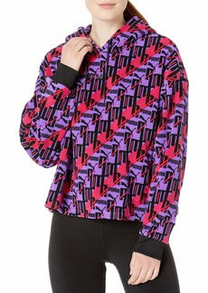 PUMA Women's XTG Fleece Hoody All Over Print Purple Glimmer-AOP S