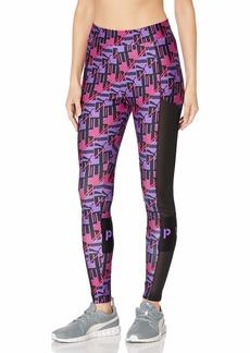 PUMA Women's XTG All Over Print Leggings Purple Glimmer-AOP S