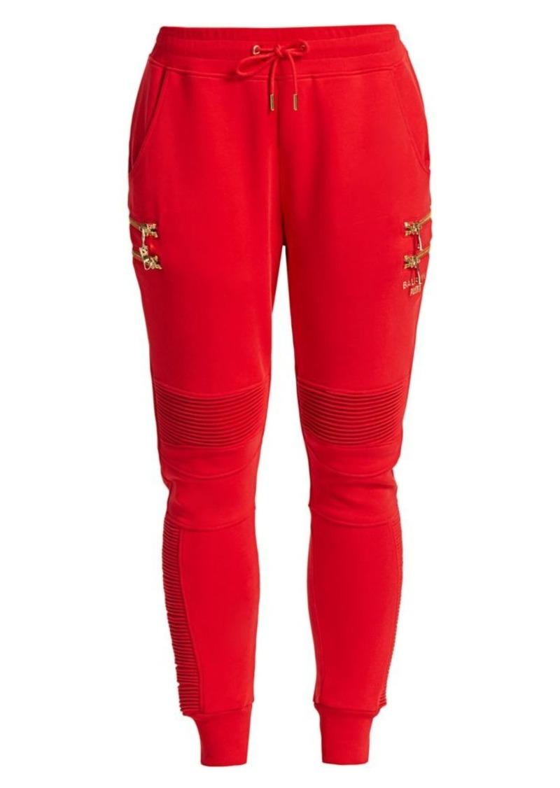 Puma x Balmain Biker Red Sweatpants