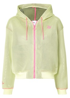 Puma X Sophia Webster contrast zipped hoodie - Yellow & Orange