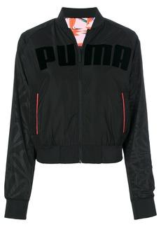 Puma X Sophia Webster logo print bomber jacket - Black