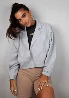 Puma x Stef Fit cropped jacket in gray heather - Exclusive to ASOS