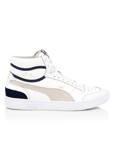 Puma Ralph Sampson Leather High-Top Sneakers