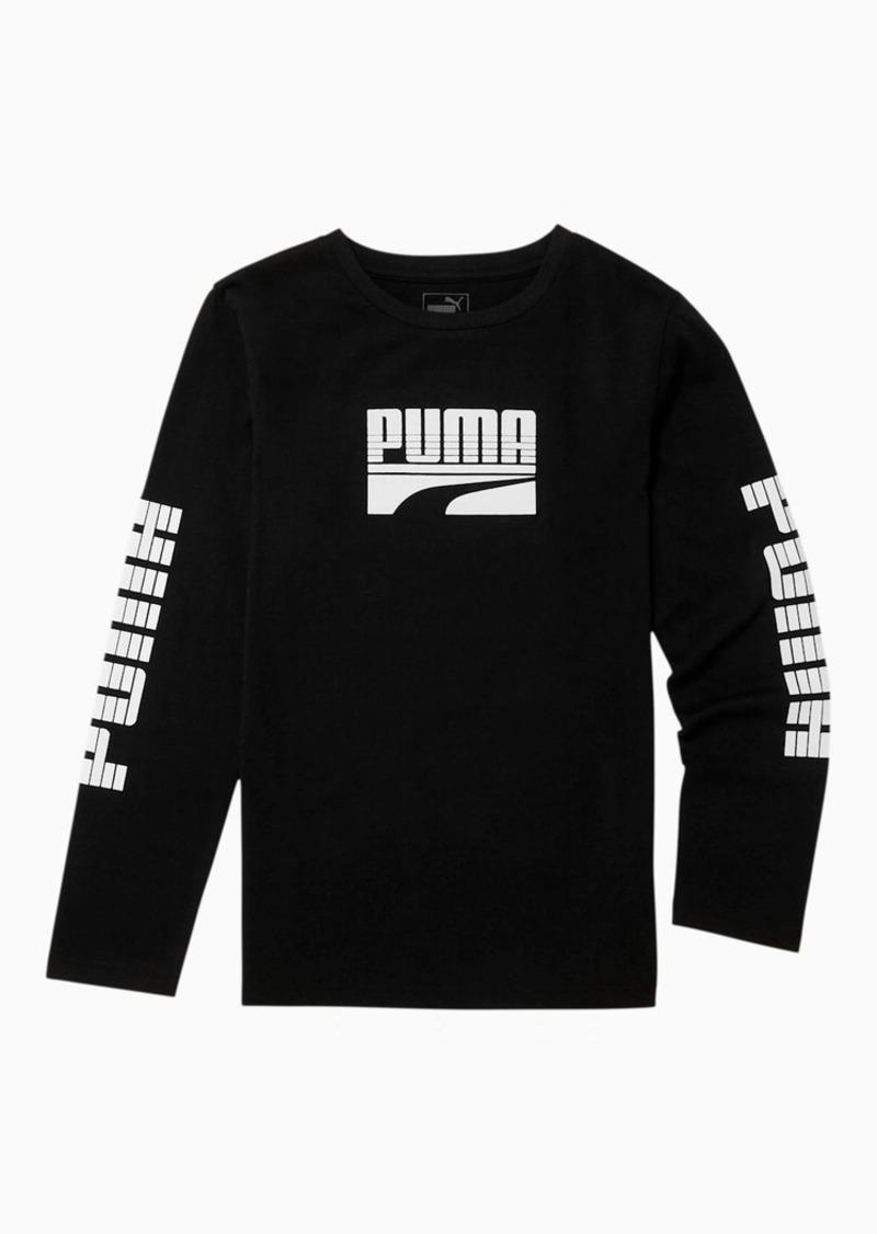 Puma Rebel Boys' Long Sleeve Graphic Tee JR