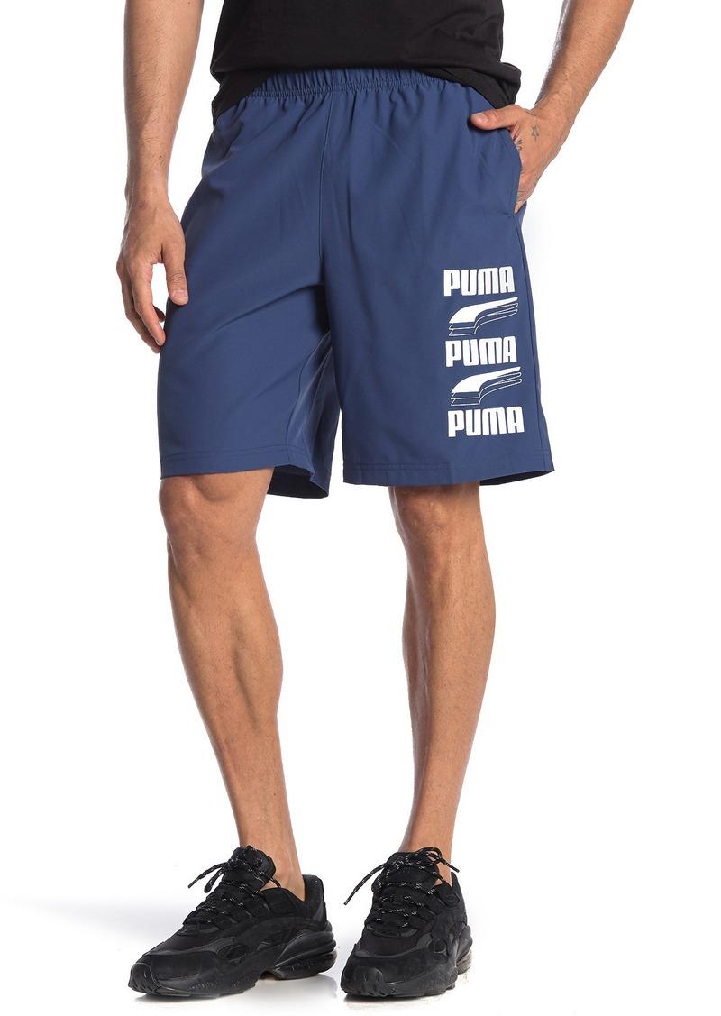 Puma Rebel Brand Logo Woven Shorts