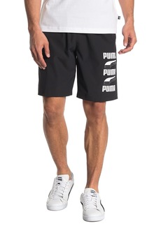 Puma Rebel Logo Print Shorts