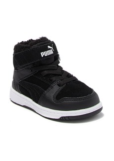 Puma Rebound Lay Up Faux Fur Lined Mid Sneaker (Baby & Toddler)