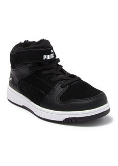 Puma Rebound Lay Up Faux Fur Lined Mid Sneaker (Toddler & Little Kid)