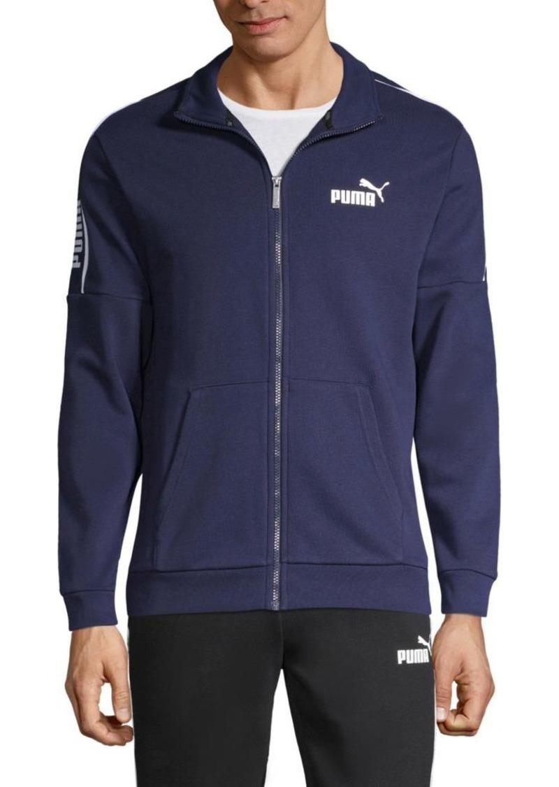 Puma Regular-Fit Cotton-Blend Zip Track Jacket