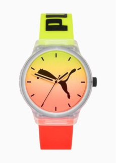 Puma Reset v2 Red Clear Yellow Watch