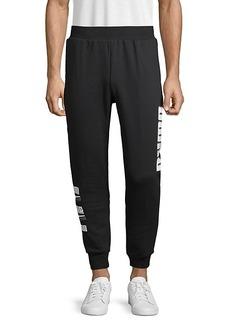 Puma Side Logo Graphic Cotton-Blend Jogger Pants