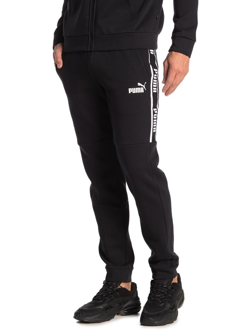 Puma Side Logo Stripe Drawstring Sweatpants