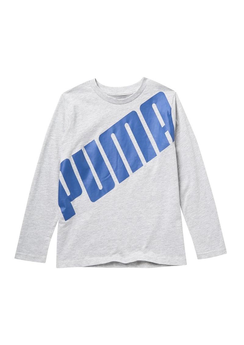 Puma Slant Pack Long Sleeve Graphic T-Shirt (Big Boys)