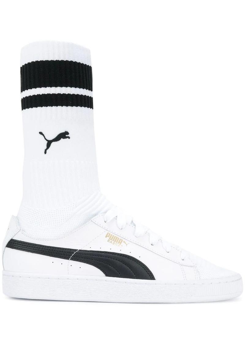 Puma sock-style colour block sneakers