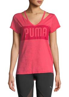 Puma Spark V-Neck Logo Tee