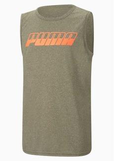 Puma Speed Boys' Heathered Performance Muscle Tee JR