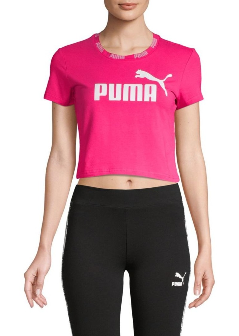 Puma Stretched Logo Cropped Top