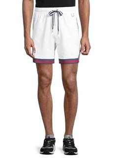 Puma Striped-Cuff Shorts