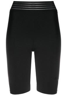 Puma striped waistband logo patch cycling shorts
