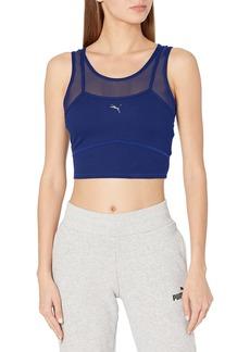 PUMA womens Studio Layered Crop Top T Shirt   US