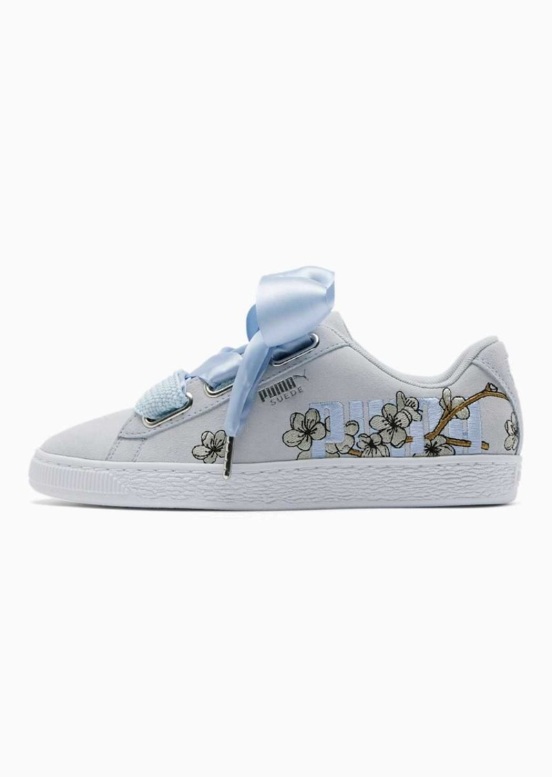 Puma Suede Heart Floral Women's Sneakers