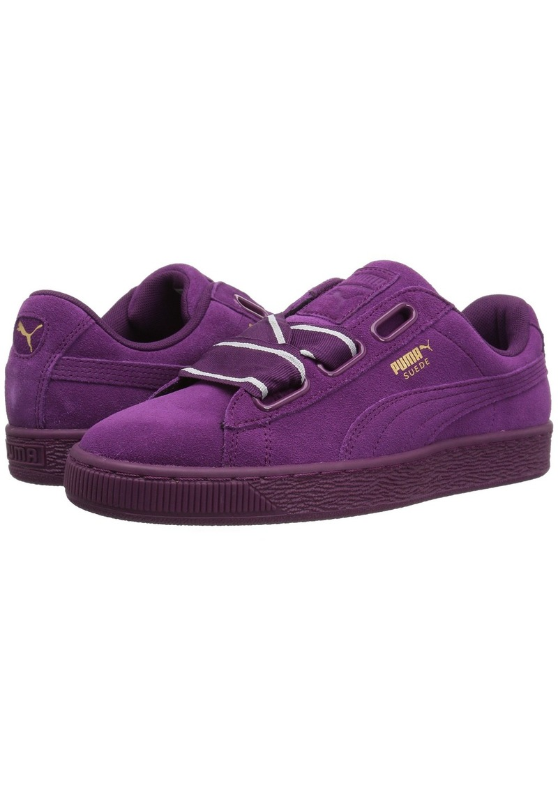 reputable site eb804 5a256 puma suede heart purple