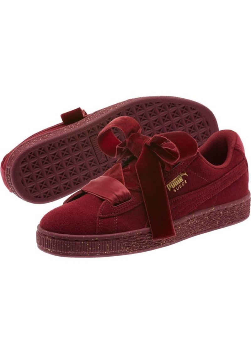 d3478a25e257 Puma Suede Heart Winter Velvet JR Sneakers