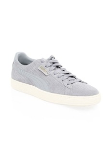 Puma Classic Perforated Suede Lace-Up Sneakers