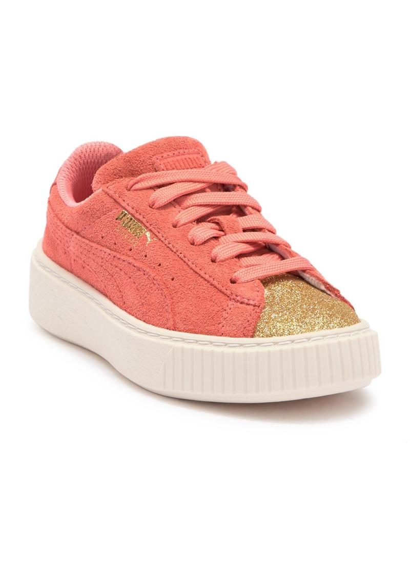 Puma Suede Platform Glam PS Sneaker (Toddler, Little Kid & Big Kid)
