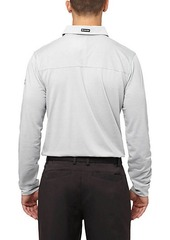 Puma Tailored Microstripe Long Sleeve Golf Polo Shirt