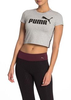 Puma Tape Logo Cropped T-Shirt
