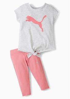 Puma Tie Front Tee + Capri Legging Infant + Toddler Set
