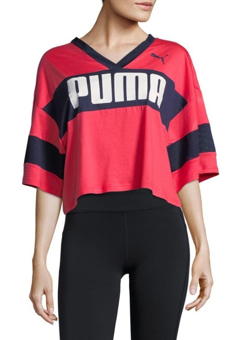 fd746029c89 Puma V-Neck Cropped Tee   Casual Shirts