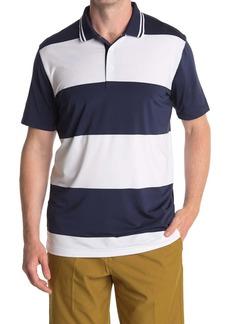 Puma White Striped Rugby Golf Polo